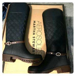 Martha Stewart aerosoles tall rain boot size 6